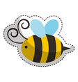 cute bee flying icon vector image
