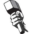 Hammer in hand vector image