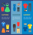 man and woman clothes banner vecrtical set vector image