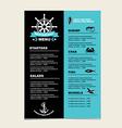 Seafood cafe menu grill template design vector image
