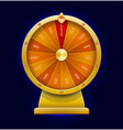 spinning wheel of fortune 3d realistic style vector image