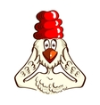 Surprised Chicken On White vector image