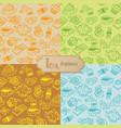 tea seamless pattern cartoon vector image