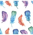 Watercolor feather seamless pattern vector image