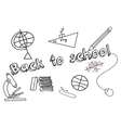 Set of doodle education elements vector image