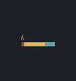cigarette computer symbol vector image