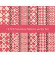 12 seamless pattern set vector image