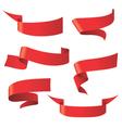 red ribbon patterns vector image
