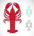 image of an lobster vector image vector image