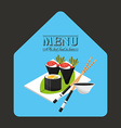 menu japanese vector image