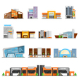 Shopping Mall Icons Set vector image