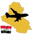 fly me to the Iraq vector image vector image