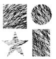 Set of Different Grunge Shapes vector image