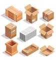different big delivery packages warehouse or vector image