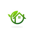 eco house garden logo vector image