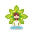 meditation design concept vector image