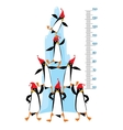 Meter wall with Funny penguins near the ice rock vector image