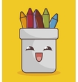 pencil holders funny character isolated icon vector image