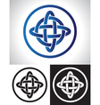 Quarternary celtic knot design vector image