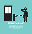 Security Guard With Closed Barrier Gate vector image