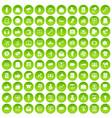 100 digital marketing icons set green circle vector image vector image