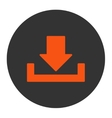Download flat orange and gray colors round button vector image