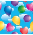 pattern of balloons vector image vector image