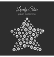 perls Pearl in star shape White pearls vector image