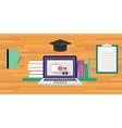 online or digital learning vector image