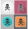 pirate flat icons 01 vector image