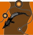 Aboriginal art background vector image