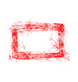blank red rectangular grunge rubber stamp vector image
