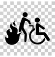 fire patient evacuation icon vector image