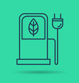 isolated linear icon of eco petrol station vector image