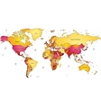 Multicolored world map vector image
