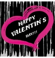 pink heart with text Happy Valentines day vector image