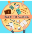 School studying icon set vector image
