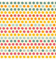 Seamless pattern with Multi-colored circles vector image