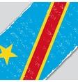 Congo grunge flag vector image
