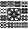 Geometric pattern set vector image vector image