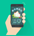 smart home remote control on mobile phone vector image