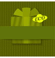 Eco background with gift vector image vector image