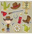 Cowboy vector image