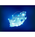 South Africa country map polygonal with spot light vector image