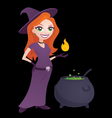 pretty witch vector image vector image
