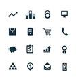 bank icons set vector image