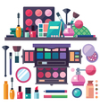 Beauty store with cosmetics vector image