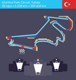 formula 1 turkey circuit vector image
