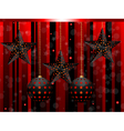 black star christmas baubles vector image vector image