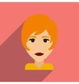 Flat web icon with long shadow women haircut vector image